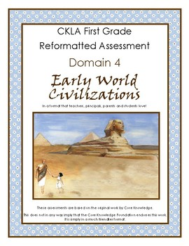 First Grade CKLA Domain 4 Early World Civilizations Alternative Assessment
