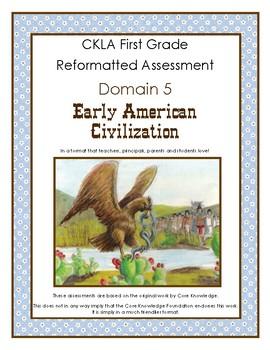 First Grade CKLA Domain 5 Early American Civilizations Alternative Assessment