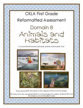 First Grade CKLA Domain 8 Animals and Habitats Alternative Assessment