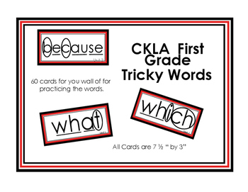 First Grade CKLA Tricky Words - 2 sets (with and without markings)