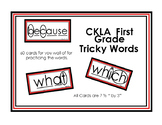 First Grade CKLA Tricky Words - 2 sets (with and without markings) Grade 1