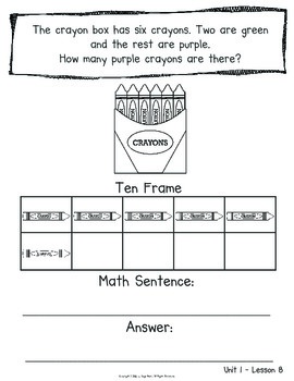 First Grade CORE Math Journal