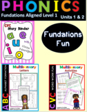 CVC Decodable Stories and Activities  Level 1 Unit 1 and Unit 2