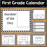 First Grade Calendar Wall Math Wall Printables Chevron Theme