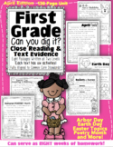 "Distance Learning: Google Slides™ April 1st Grade Can U Dig it"" Text Evidence"