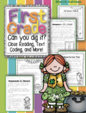 First Grade Can You Dig It?  Close Reading Passages & More for March