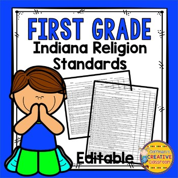 First Grade Catholic Standards Checklist-Editable