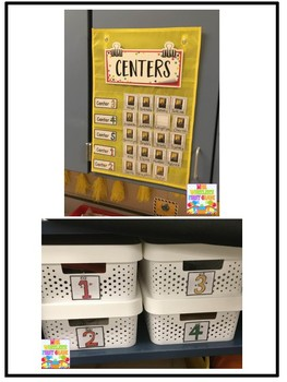 First Grade Centers: Center Labels