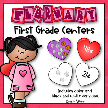 First Grade Centers Bundle - February