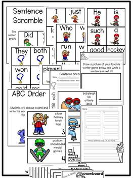 First Grade Centers: Winter Games