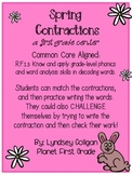 First Grade Centter: Spring Contractions