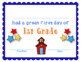 First Grade Certificates and Student of the Month Awards