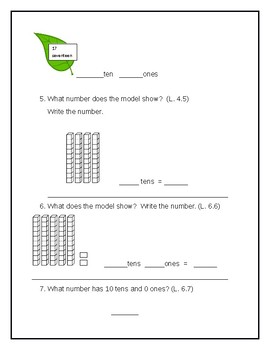 First Grade Chapter 6 Pretest