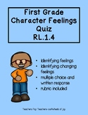 First Grade Character Feelings Quiz (RL.1.4)