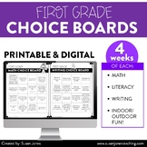 First Grade Choice Boards for Distance Learning!
