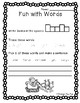 First Grade Christmas Math and Literacy Activity Bundle Packet (14 pages)