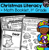 First Grade Christmas Literacy and Math Packet