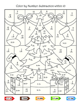 First Grade Christmas Math Activities
