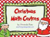 First Grade Christmas Math Centres