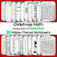 Christmas Worksheets - First Grade Morning Work  - 20 pages