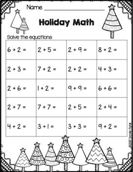 Christmas Worksheets - First Grade Morning Work - 20 pages by Dovie Funk