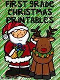 First Grade Christmas Printables