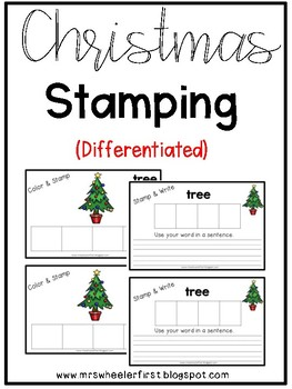 First Grade Christmas Stamping