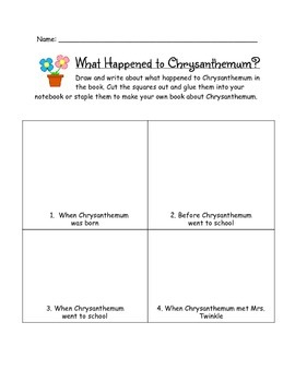 First Grade Chrysanthemum Unit, Aligned to Common Core