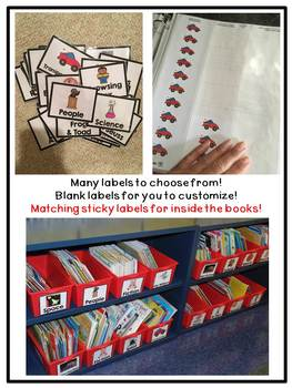 First Grade Classroom Library Labels: Basic Edition