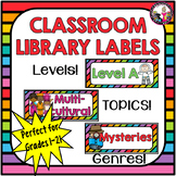 Classroom Library Labels! Plus Labels for Coding Books! 1st and 2nd Graders!