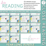 First Grade Close Reading Comprehension Year Long Bundle