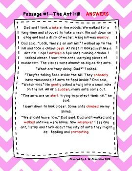 First Grade Cloze Reading Passages ***FREEBIE***