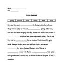 First Grade Cloze Passage II (Comprehension)