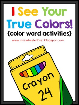 First Grade Color Word Activities