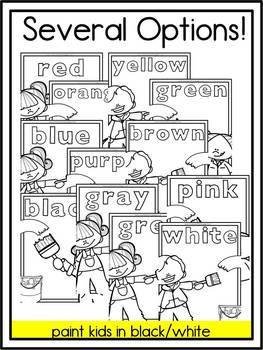 First Grade Color Word Posters