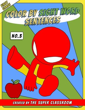 First Grade: Color by Sight Word Sentences - 003