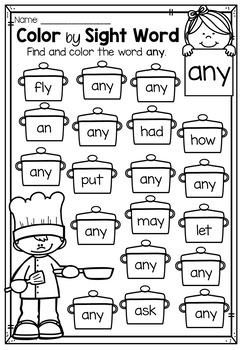 image about First Grade Sight Words Printable known as Initially Quality Shade via Sight Term Worksheets