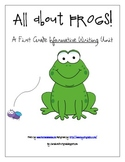 First Grade Common CORE Informative Writing Unit- All About FROGS!