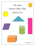 First Grade Common CORE Math Geometry Unit