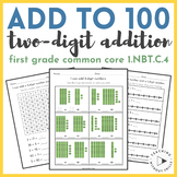 1st Grade Add Within 100 Worksheets | 2-Digit Addition Packet | 1.NBT.C.4