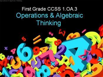 First Grade Common Core 1.OA.3 Operations & Algebraic Thinking