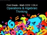 First Grade Common Core 1.OA.4 Operations & Algebraic Thinking