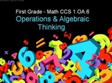 First Grade Common Core 1.OA.6 Operations & Algebraic Thinking