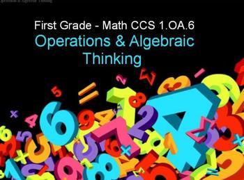 First Grade Common Core 1.OA.6 Operations & Algebraic Thinking