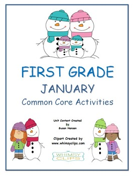 First Grade January Common Core Activities