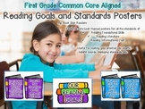 {First Grade Common Core Aligned} Book Themed Reading Goal Posters