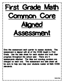 First Grade Common Core Aligned Math Assessment