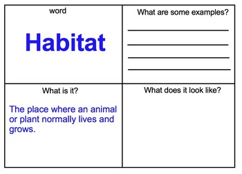 First Grade Common Core Animals and Habitats Domain