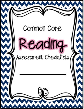 First Grade Common Core Assessment Checklist - Reading and Math