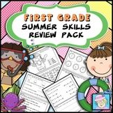 Summer Review Packet for First Grade | Math and Literacy for Summer No Prep